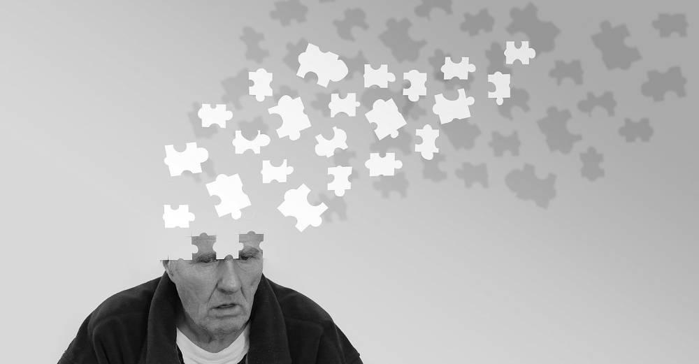 Grafik mit einem Mann dessen Gehirn sich im übertragenen Sinne auflöst als eine der Folgen von Spielsucht